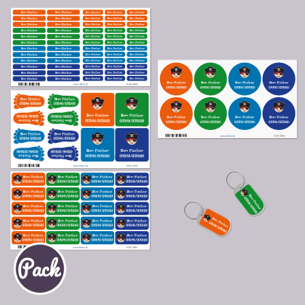 Pack Namensetiketten